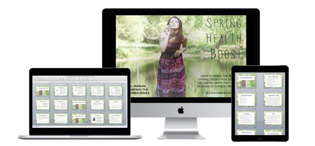 spring health boost online course mock up photo 3 devices together merged