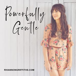 POWERFULLY GENTLE - podcast cover image artwork - Rhiannon Griffiths